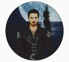 "Captain Hook Comic Poster ""Moonlight"" Logoless Design One Piece - Long Sleeve"