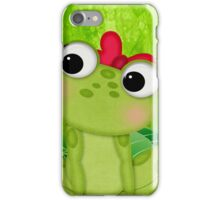 Cute Frog Girl 3 iPhone Case/Skin