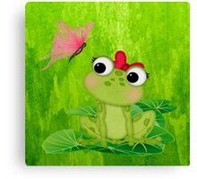 Cute Frog Girl 3 Canvas Print