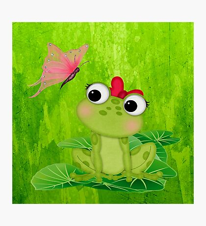 Cute Frog Girl 3 Photographic Print