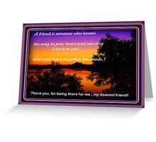 Tweed River Sunset Greeting Card