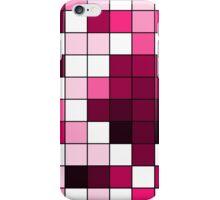 Modern Pink, Black, and White Geometric Squares iPhone Case/Skin