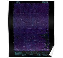 USGS Topo Map Oregon Dutchman Peak 279738 1983 24000 Inverted Poster