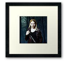 """Emma Swan Comic Poster """"The Dark One"""" Logoless Design Framed Print"""