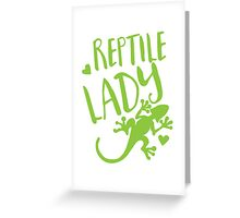 Reptile Lady Greeting Card