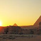 Pyramid Sunset by Olga Zvereva