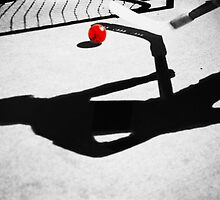 Ball Hockey Shadows by Laurie Minor