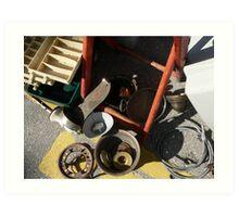 @the flea market series Art Print