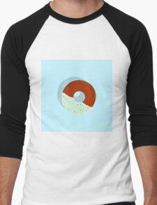 Half-Dipped Apple Spice Donut Men's Baseball ¾ T-Shirt