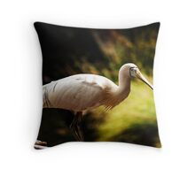 spoon bill Throw Pillow