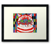 Bad Cattitude Framed Print