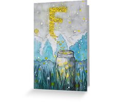 F is for Fireflies Greeting Card