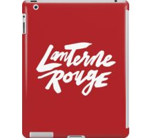 Lanterne Rouge : White Script iPad Case/Skin
