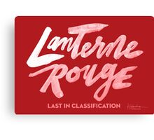 Lanterne Rouge : White Script Canvas Print
