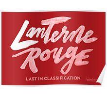 Lanterne Rouge : White Script Poster
