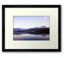 Alaska - Mountains and clouds Framed Print