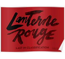 Lanterne Rouge : Black Script Poster