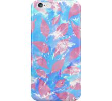 Whimsical Watercolor Leaves in Pink and Blue iPhone Case/Skin