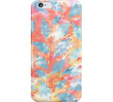 Whimsical Watercolor Leaves in Blue and Orange iPhone Case/Skin