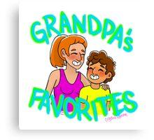 Grandpa's Favorites  Canvas Print