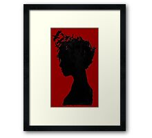 Obscure Woman - Birds Framed Print