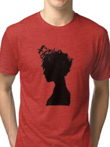 Obscure Woman - Birds Tri-blend T-Shirt