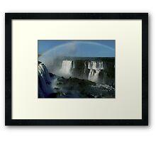 rainbow over Iguassu Falls Framed Print