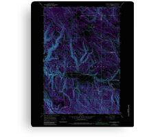 USGS Topo Map Oregon Lehman Springs 280502 1967 24000 Inverted Canvas Print