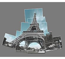 Eifel Tower - Paris - Snapshot collage Photographic Print