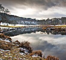 Frosty morn' on the river Brathay by Shaun Whiteman