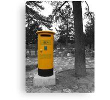 Yellow Postbox Canvas Print
