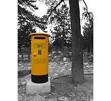 Yellow Postbox Photographic Print