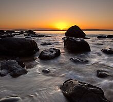 Hinsby Beach Sunrise by Chris Cobern