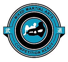 Mixed Martial Arts Competition Ready Kneebar Blue  Photographic Print