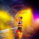 Hula Hoop Dancer in Action by Leonardo Tarjadi