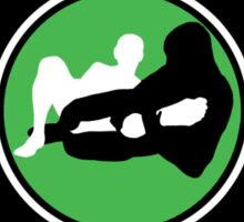Mixed Martial Arts Competition Ready Kneebar Green  Sticker