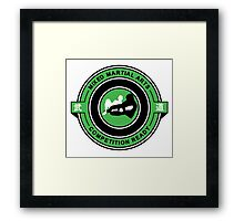 Mixed Martial Arts Competition Ready Kneebar Green  Framed Print