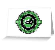 Mixed Martial Arts Competition Ready Kneebar Green  Greeting Card