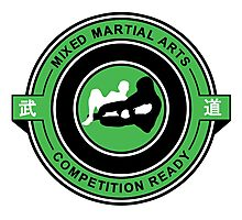 Mixed Martial Arts Competition Ready Kneebar Green  Photographic Print