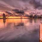 Sitting On A Dock In The Bay - Lavender Bay, Sydney Harbour, Australia - The HDR Experience by Philip Johnson