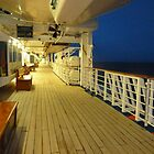 Night  On The Deck of The Sun Princess by joycee