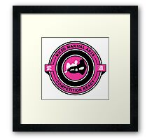 Mixed Martial Arts Competition Ready Kneebar Pink  Framed Print
