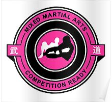 Mixed Martial Arts Competition Ready Kneebar Pink  Poster