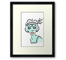 Flapper Girl Framed Print