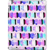 Girly Watercolor Brush Stroke Stripes iPad Case/Skin