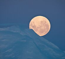 Antarctic moonrise by Neville Jones