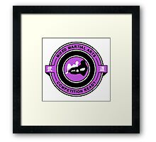 Mixed Martial Arts Competition Ready Kneebar Purple  Framed Print