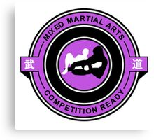Mixed Martial Arts Competition Ready Kneebar Purple  Canvas Print