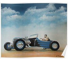 Blue T Roadster Poster
