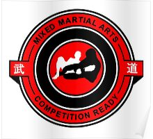 Mixed Martial Arts Competition Ready Kneebar Red  Poster